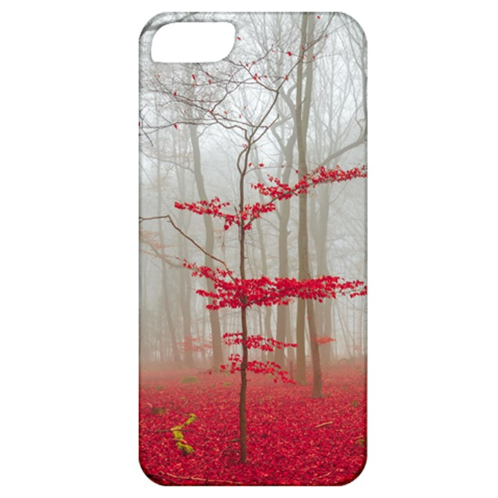 Magic forest in red and white Apple iPhone 5 Classic Hardshell Case