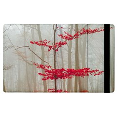Magic forest in red and white Apple iPad 2 Flip Case