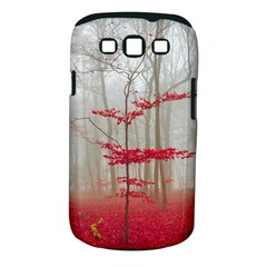 Magic forest in red and white Samsung Galaxy S III Classic Hardshell Case (PC+Silicone)