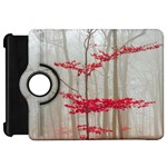 Magic forest in red and white Kindle Fire HD Flip 360 Case Front