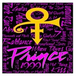 Prince Poster Large Satin Scarf (Square) Front