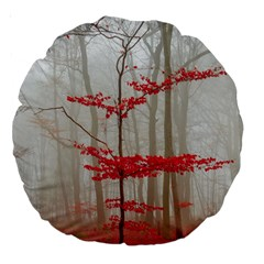 Magic Forest In Red And White Large 18  Premium Round Cushions