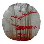 Magic forest in red and white Large 18  Premium Round Cushions Back