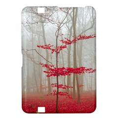 Magic Forest In Red And White Kindle Fire Hd 8 9