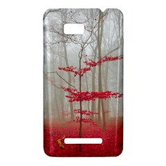 Magic forest in red and white HTC One SU T528W Hardshell Case