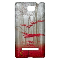Magic forest in red and white HTC 8S Hardshell Case