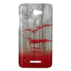 Magic forest in red and white HTC Butterfly X920E Hardshell Case