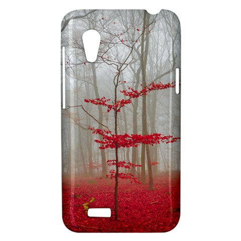 Magic forest in red and white HTC Desire VT (T328T) Hardshell Case