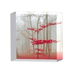 Magic forest in red and white 4 x 4  Acrylic Photo Blocks Front