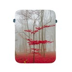 Magic forest in red and white Apple iPad 2/3/4 Protective Soft Cases Front