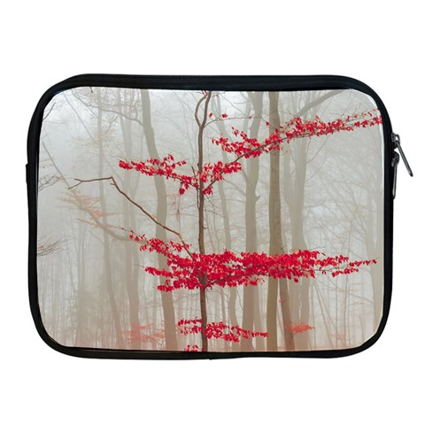 Magic forest in red and white Apple iPad 2/3/4 Zipper Cases