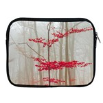 Magic forest in red and white Apple iPad 2/3/4 Zipper Cases Front