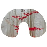 Magic forest in red and white Travel Neck Pillows Front