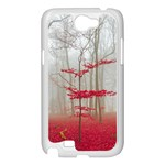 Magic forest in red and white Samsung Galaxy Note 2 Case (White) Front
