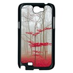 Magic forest in red and white Samsung Galaxy Note 2 Case (Black) Front