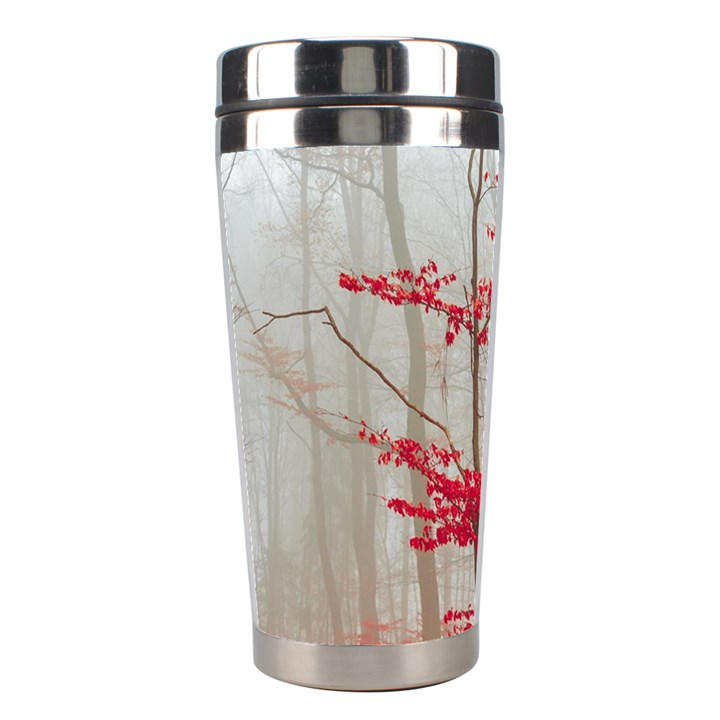 Magic forest in red and white Stainless Steel Travel Tumblers
