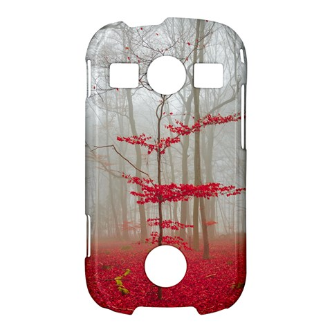 Magic forest in red and white Samsung Galaxy S7710 Xcover 2 Hardshell Case