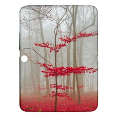 Magic Forest In Red And White Samsung Galaxy Tab 3 (10 1 ) P5200 Hardshell Case
