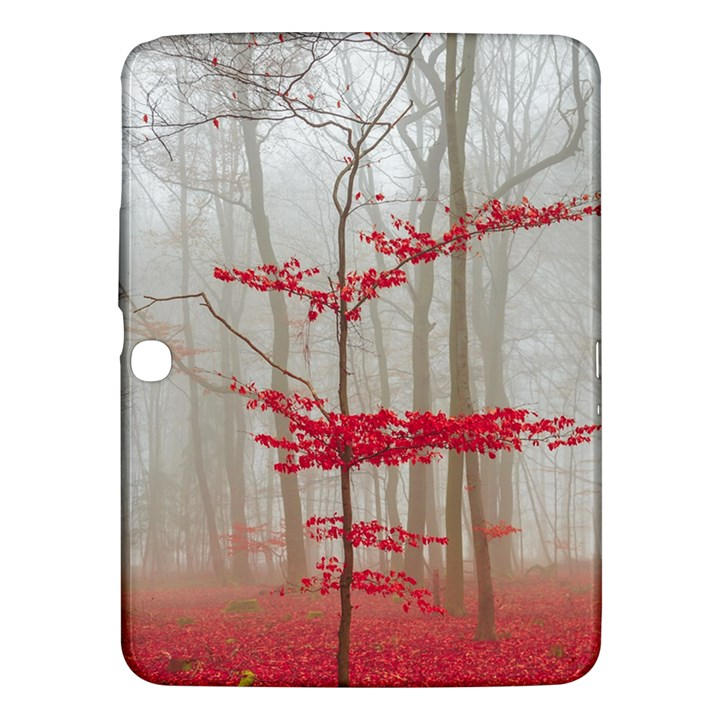 Magic forest in red and white Samsung Galaxy Tab 3 (10.1 ) P5200 Hardshell Case
