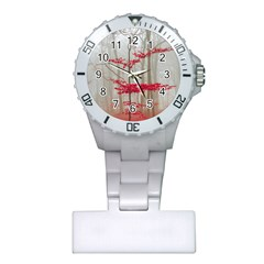 Magic Forest In Red And White Plastic Nurses Watch