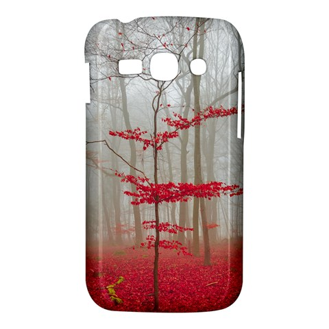 Magic forest in red and white Samsung Galaxy Ace 3 S7272 Hardshell Case