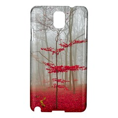 Magic Forest In Red And White Samsung Galaxy Note 3 N9005 Hardshell Case