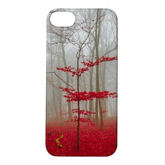 Magic Forest In Red And White Apple Iphone 5s/ Se Hardshell Case