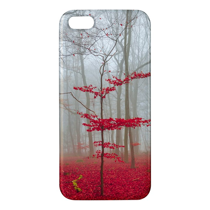 Magic forest in red and white iPhone 5S/ SE Premium Hardshell Case