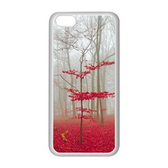 Magic Forest In Red And White Apple Iphone 5c Seamless Case (white)