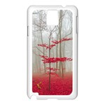 Magic forest in red and white Samsung Galaxy Note 3 N9005 Case (White) Front