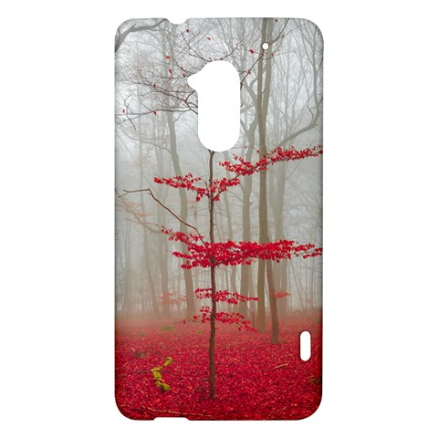 Magic forest in red and white HTC One Max (T6) Hardshell Case