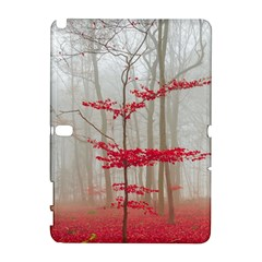 Magic forest in red and white Samsung Galaxy Note 10.1 (P600) Hardshell Case
