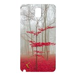 Magic forest in red and white Samsung Galaxy Note 3 N9005 Hardshell Back Case Front