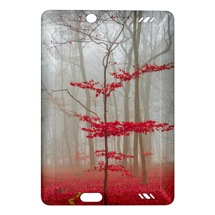 Magic forest in red and white Amazon Kindle Fire HD (2013) Hardshell Case