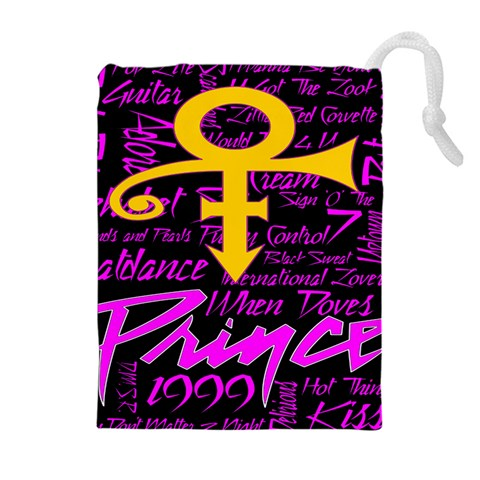 Prince Poster Drawstring Pouches (Extra Large)