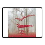 Magic forest in red and white Double Sided Fleece Blanket (Small)  50 x40 Blanket Back