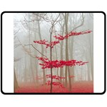 Magic forest in red and white Double Sided Fleece Blanket (Medium)  60 x50 Blanket Back