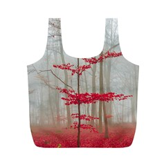 Magic Forest In Red And White Full Print Recycle Bags (m)