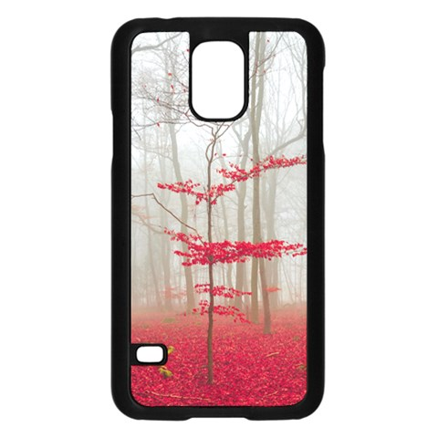 Magic forest in red and white Samsung Galaxy S5 Case (Black)