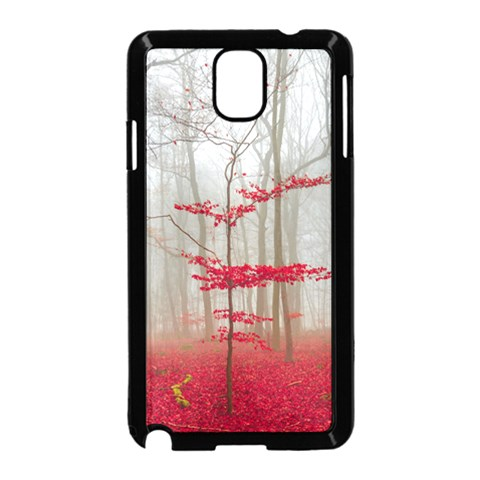 Magic forest in red and white Samsung Galaxy Note 3 Neo Hardshell Case (Black)
