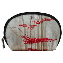Magic Forest In Red And White Accessory Pouches (large)