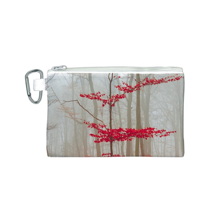 Magic forest in red and white Canvas Cosmetic Bag (S)