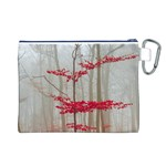 Magic forest in red and white Canvas Cosmetic Bag (L) Back