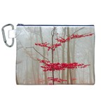 Magic forest in red and white Canvas Cosmetic Bag (XL) Front