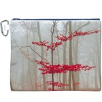 Magic forest in red and white Canvas Cosmetic Bag (XXXL) Front