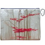 Magic forest in red and white Canvas Cosmetic Bag (XXXL) Back