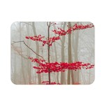 Magic forest in red and white Double Sided Flano Blanket (Mini)  35 x27 Blanket Back