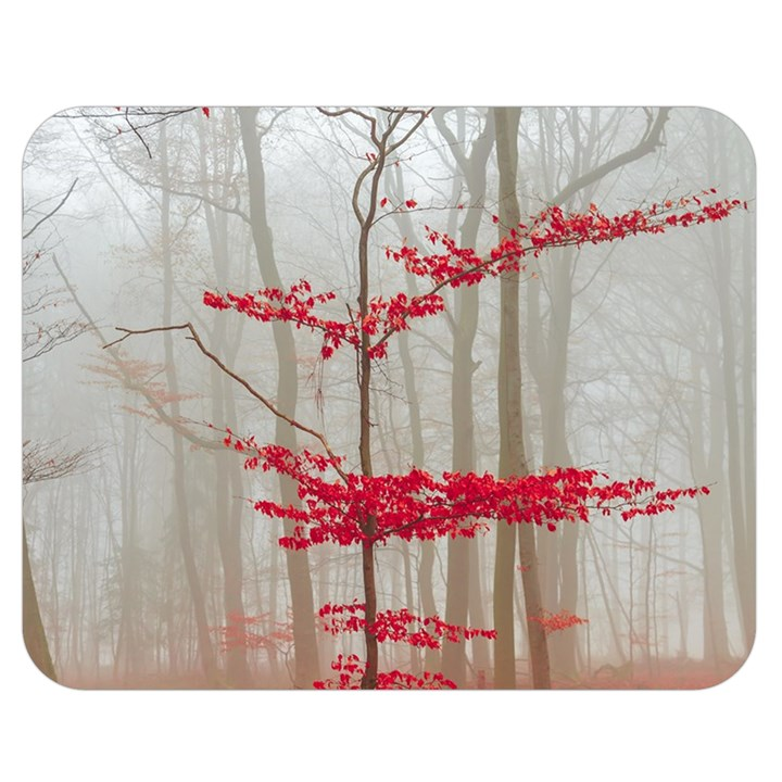 Magic forest in red and white Double Sided Flano Blanket (Medium)