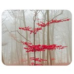 Magic forest in red and white Double Sided Flano Blanket (Medium)  60 x50 Blanket Back