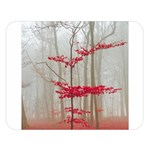 Magic forest in red and white Double Sided Flano Blanket (Large)   Blanket Back